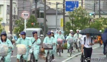 愛媛県の県立高校で自転車の ...